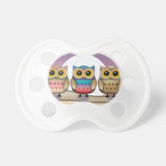 Three Little Owls Baby Binky Dummy