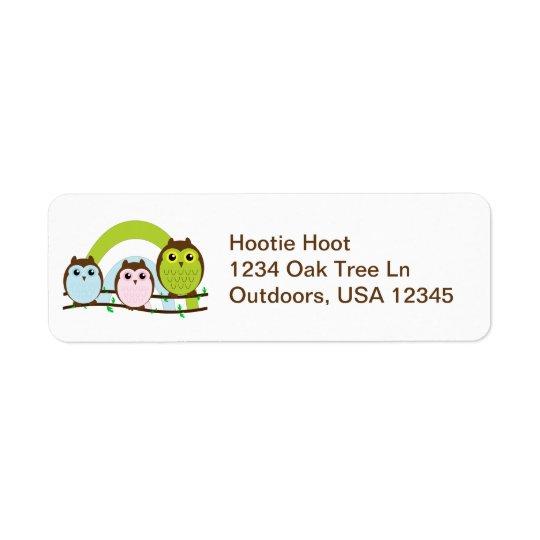 Three Little Owls Return Address Label