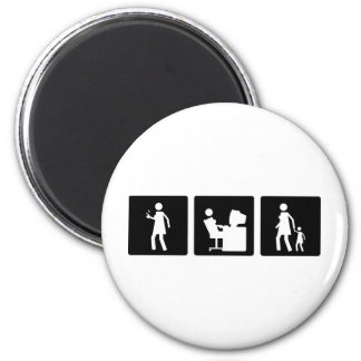 Three Little Pics - Women 5 Magnet