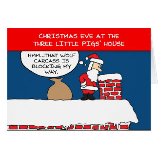 Three Little Pigs Christmas Card
