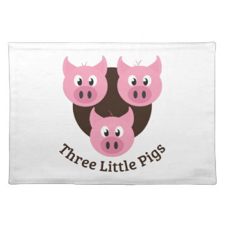 Three Little Pigs Place Mats