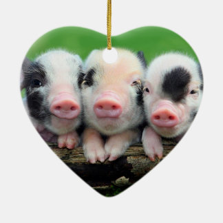 Three little pigs - cute pig - three pigs ceramic ornament