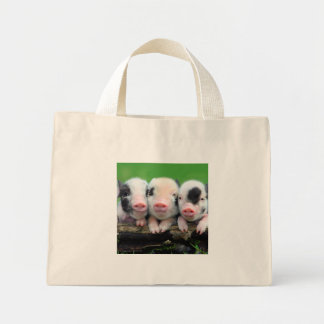 Three little pigs - cute pig - three pigs mini tote bag