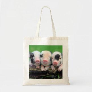 Three little pigs - cute pig - three pigs tote bag