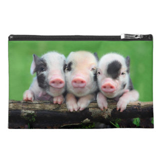 Three little pigs - cute pig - three pigs travel accessory bag