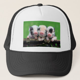 Three little pigs - cute pig - three pigs trucker hat