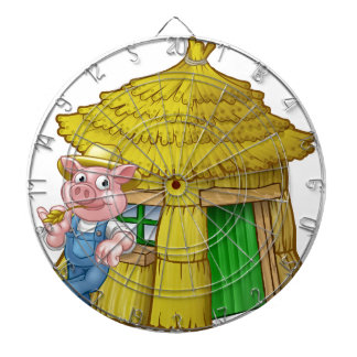 Three Little Pigs Fairy Tale Straw House Dartboard