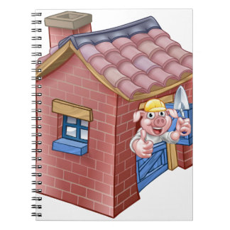 Three Little Pigs Fairy Tale Straw House Notebook