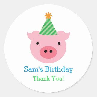 Three Little Pigs Favor Sticker