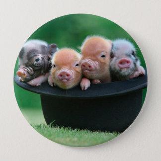 Three little pigs - three pigs - pig hat 10 cm round badge