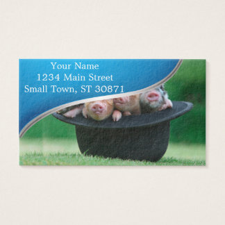 Three little pigs - three pigs - pig hat business card
