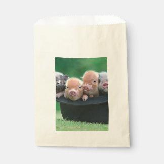 Three little pigs - three pigs - pig hat favour bag