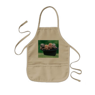 Three little pigs - three pigs - pig hat kids apron