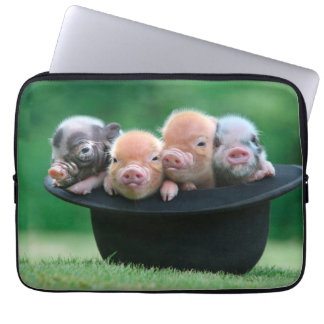 Three little pigs - three pigs - pig hat laptop sleeve