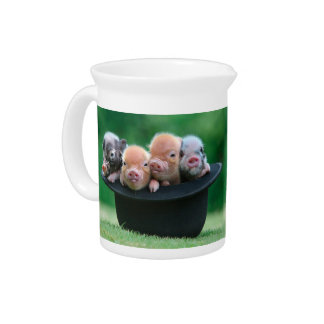 Three little pigs - three pigs - pig hat pitcher