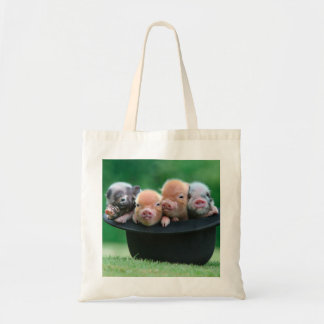 Three little pigs - three pigs - pig hat tote bag