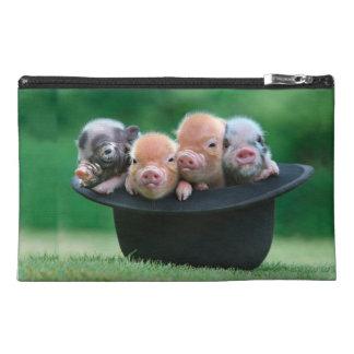 Three little pigs - three pigs - pig hat travel accessory bag
