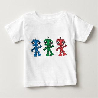 Three Little Robots Baby T-Shirt