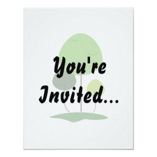 Three lollypop shaped tree eco design.png 11 cm x 14 cm invitation card