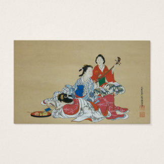 Three lovely Japanese ladies in kimono Business Card