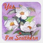 Three Magnolias Square Sticker