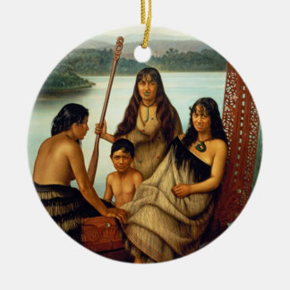 'Three Maori Girls and a Boy' - Lindauer Ceramic Ornament