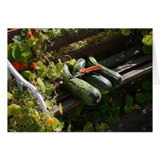 Three Marrows and a bench Card