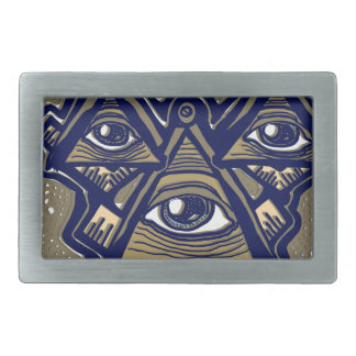 Three Masons in Space by ParanormalPrints Belt Buckles
