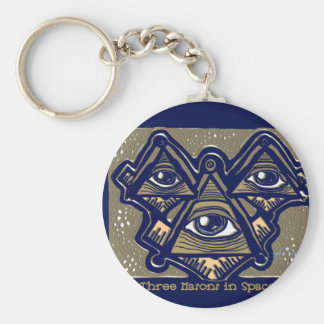 Three Masons in Space by ParanormalPrints Key Ring