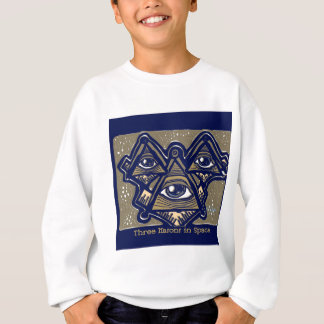Three Masons in Space by ParanormalPrints Sweatshirt