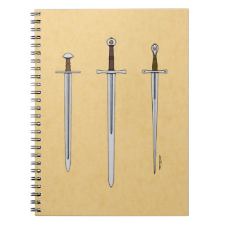 Three Medieval Swords 2016 Notebook