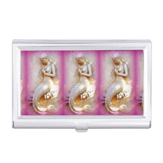 three mermaids business card holder