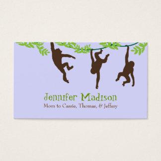 Three Monkeys Cute Custom Mommy Card