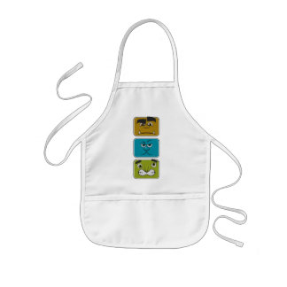 Three Monster Faces Kids Apron