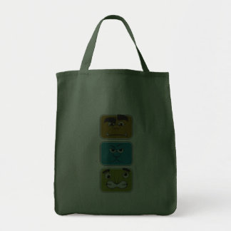 Three Monster Faces Bags