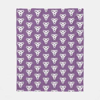 Three Moon Purple Fleece Blanket