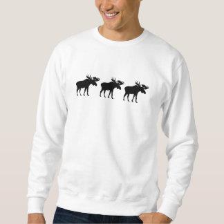 Three moose elk sweatshirt