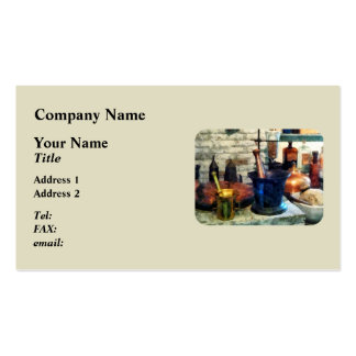 Three Mortar and Pestles Pack Of Standard Business Cards