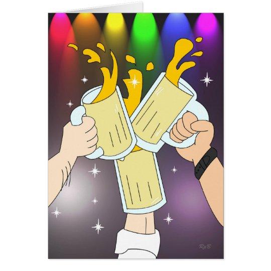 Three Mugs: Gay Party Card