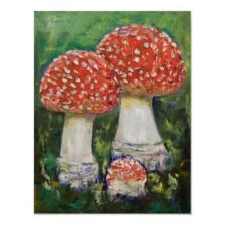 Three Mushrooms Invitation