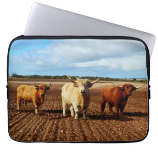 Three Naughty Highland Cows, 13inch Laptop Sleeve