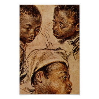 Three Negro Boys Poster
