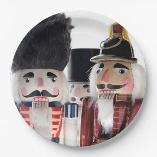 Three nutcrackers paper plate