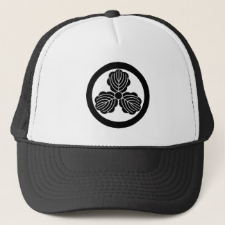 Three oak leaves(1) in circle trucker hat