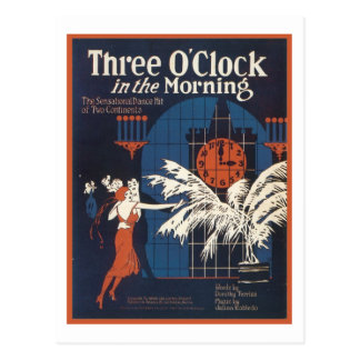 Three O'Clock in the Morning Songbook Cover Postcard