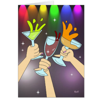 Three of Cups: Party Time Card