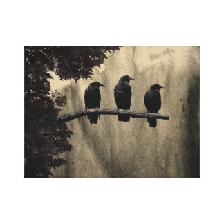 Three On A Tree Canvas Print