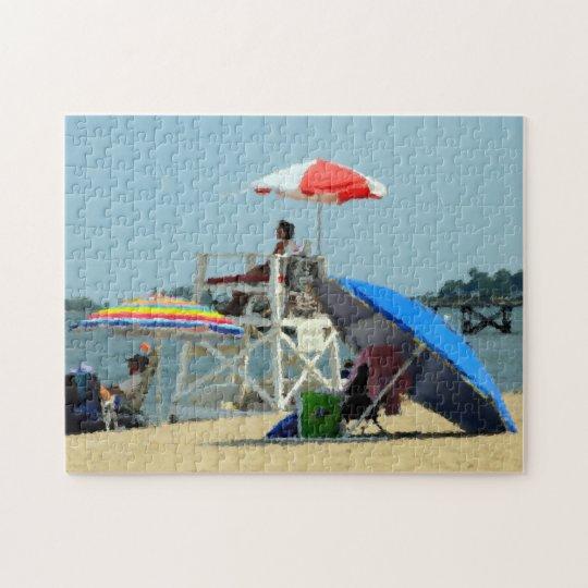 Three on the Beach Jigsaw Puzzle