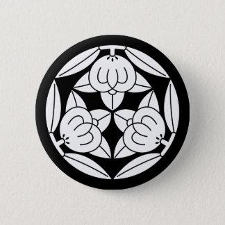 Three oranges 6 cm round badge