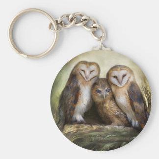 Three Owl Moon Keychain
